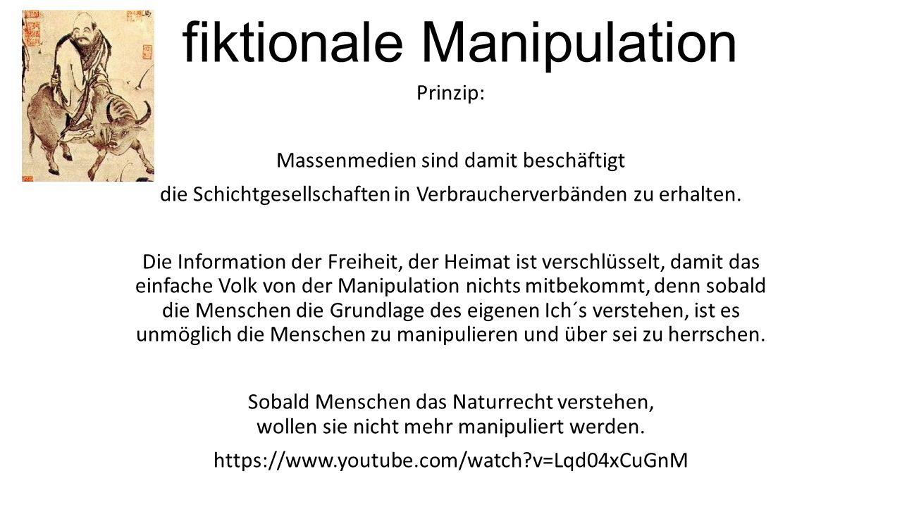 fiktionale Manipulation