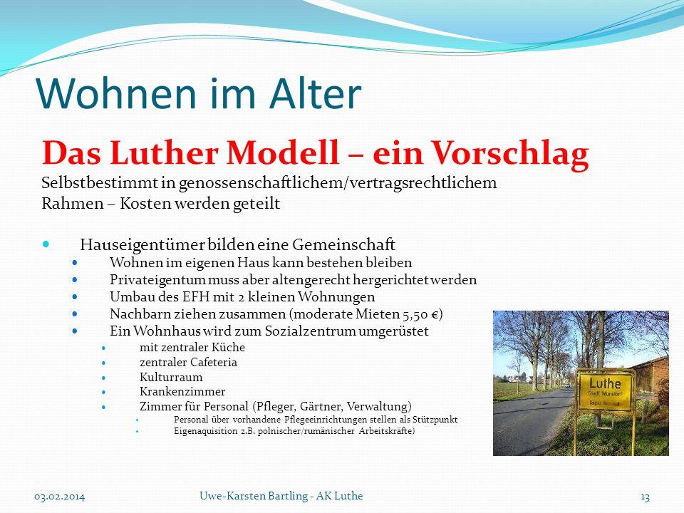 Wohnen im Alter Das Luther Modell – ein Vorschlag