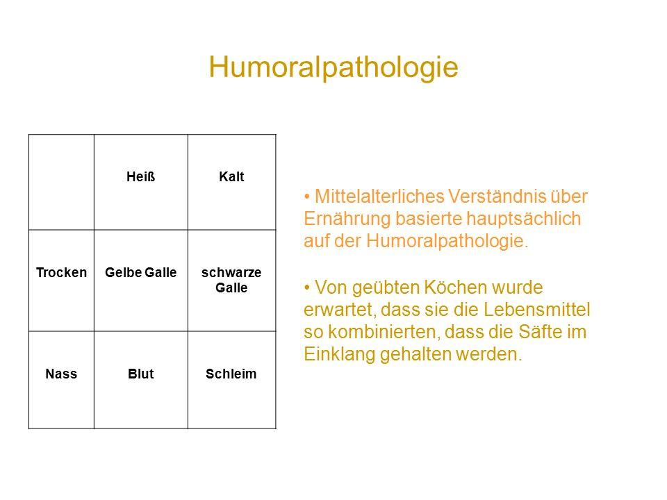 Humoralpathologie Heiß. Kalt. Trocken. Gelbe Galle. schwarze Galle. Nass. Blut. Schleim.