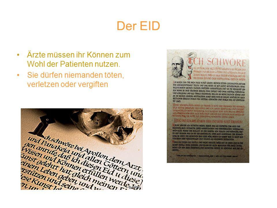 Der EID Ärzte müssen ihr Können zum Wohl der Patienten nutzen.