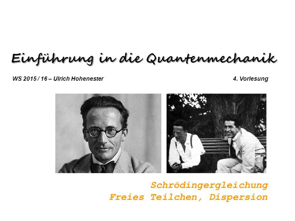Schrödingergleichung Freies Teilchen, Dispersion