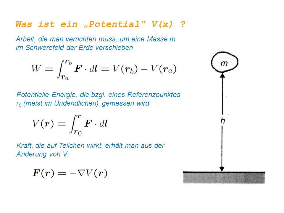 """Was ist ein """"Potential V(x)"""
