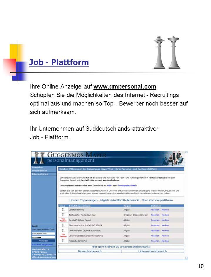 Job - Plattform Ihre Online-Anzeige auf www.gmpersonal.com