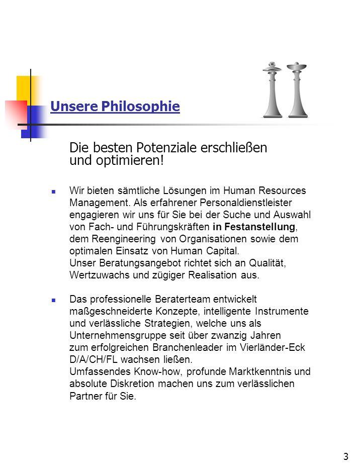 Unsere Philosophie Die besten Potenziale erschließen und optimieren!
