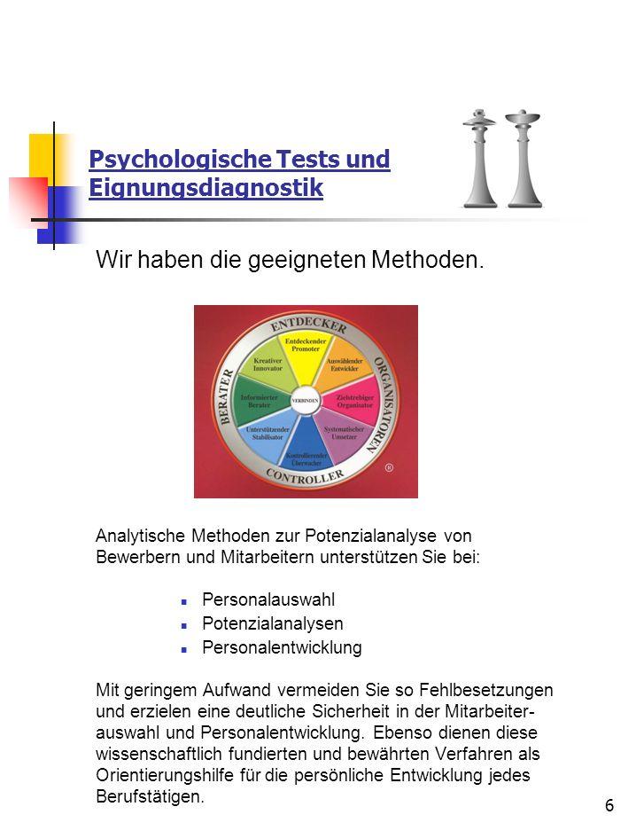Psychologische Tests und Eignungsdiagnostik