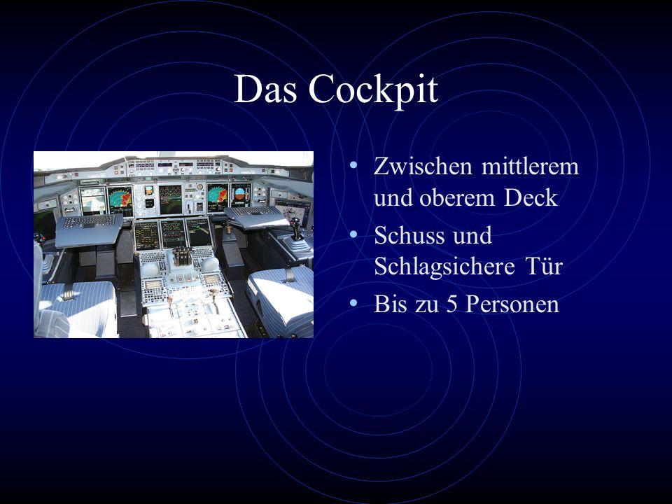 Das Cockpit Zwischen mittlerem und oberem Deck
