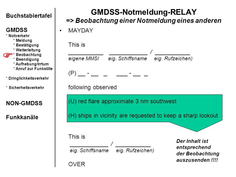 GMDSS-Notmeldung-RELAY => Beobachtung einer Notmeldung eines anderen