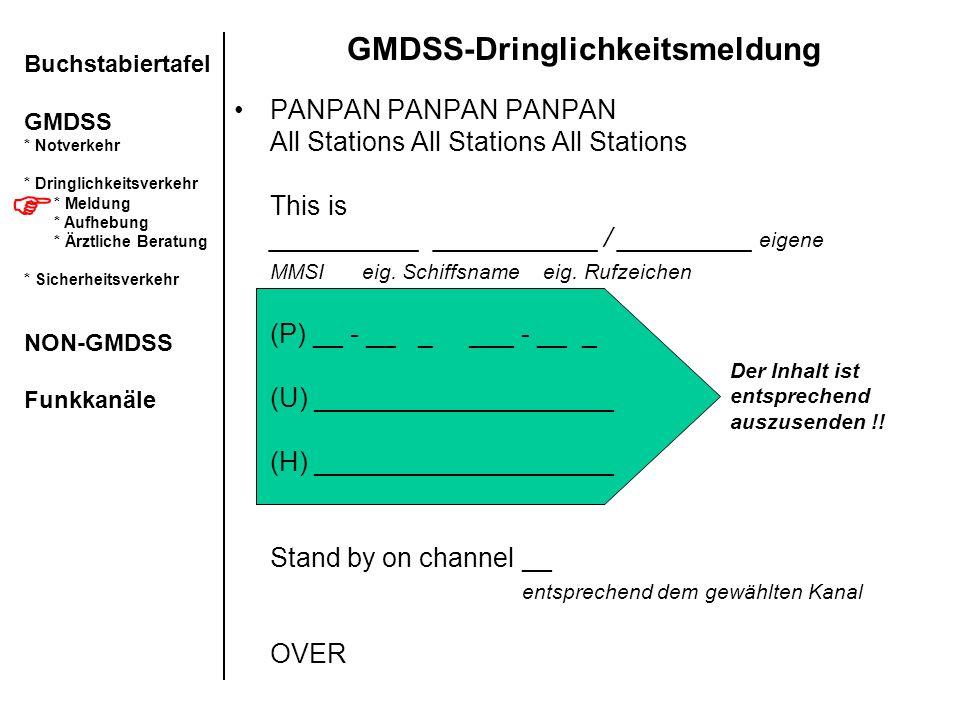 GMDSS-Dringlichkeitsmeldung