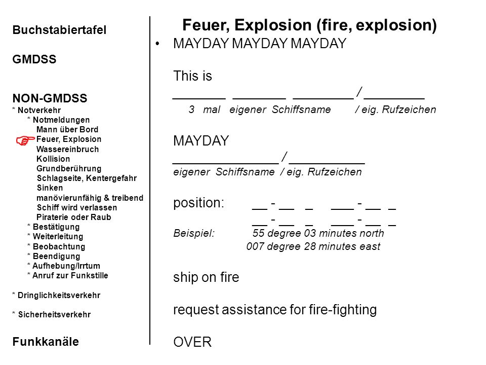 Feuer, Explosion (fire, explosion)