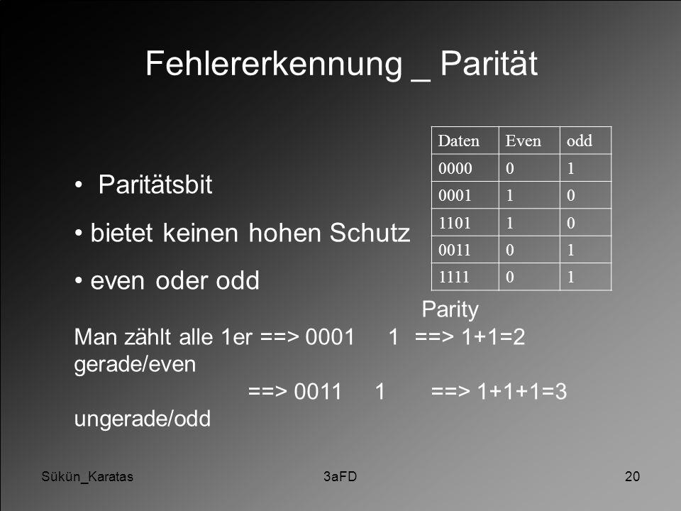 Fehlererkennung _ Parität