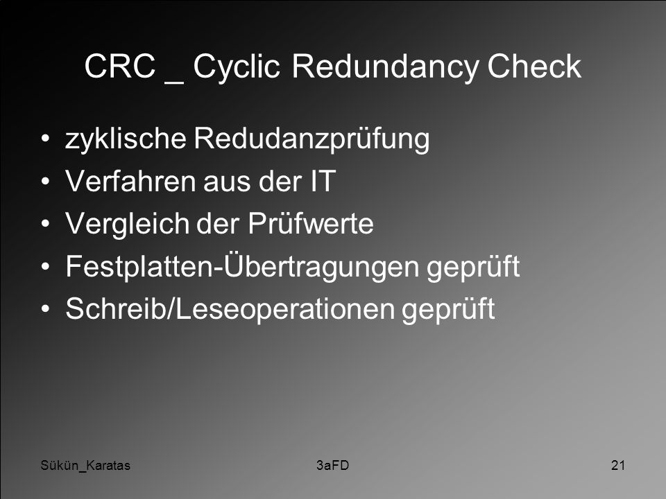 CRC _ Cyclic Redundancy Check