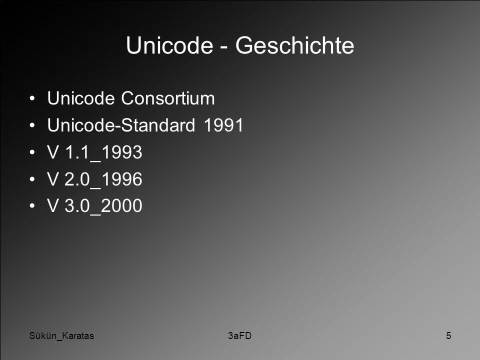Unicode - Geschichte Unicode Consortium Unicode-Standard 1991