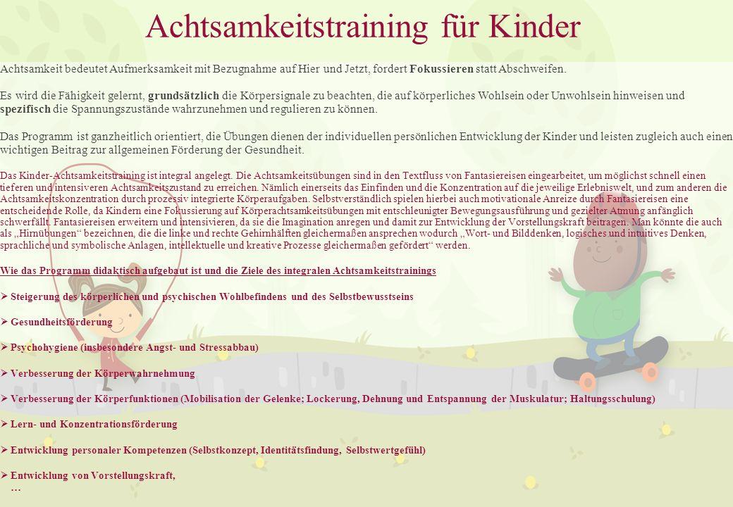Achtsamkeitstraining für Kinder