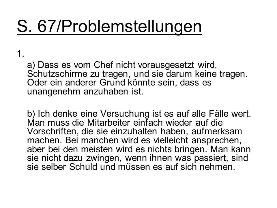 S. 67/Problemstellungen 1.