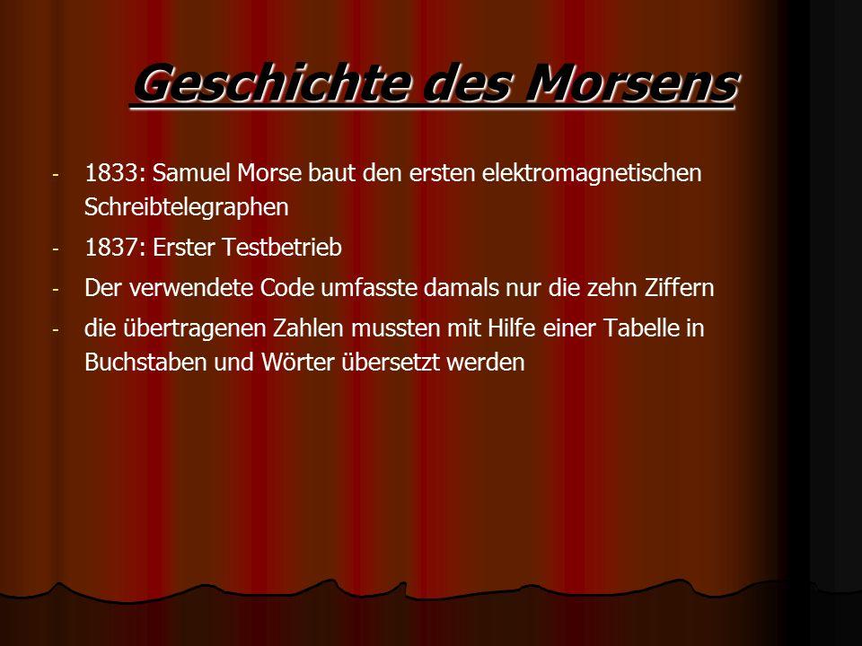 Geschichte des Morsens
