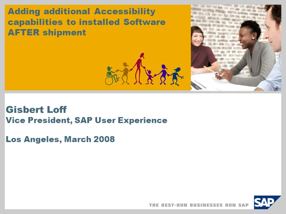 Adding additional Accessibility capabilities to installed Software AFTER shipment