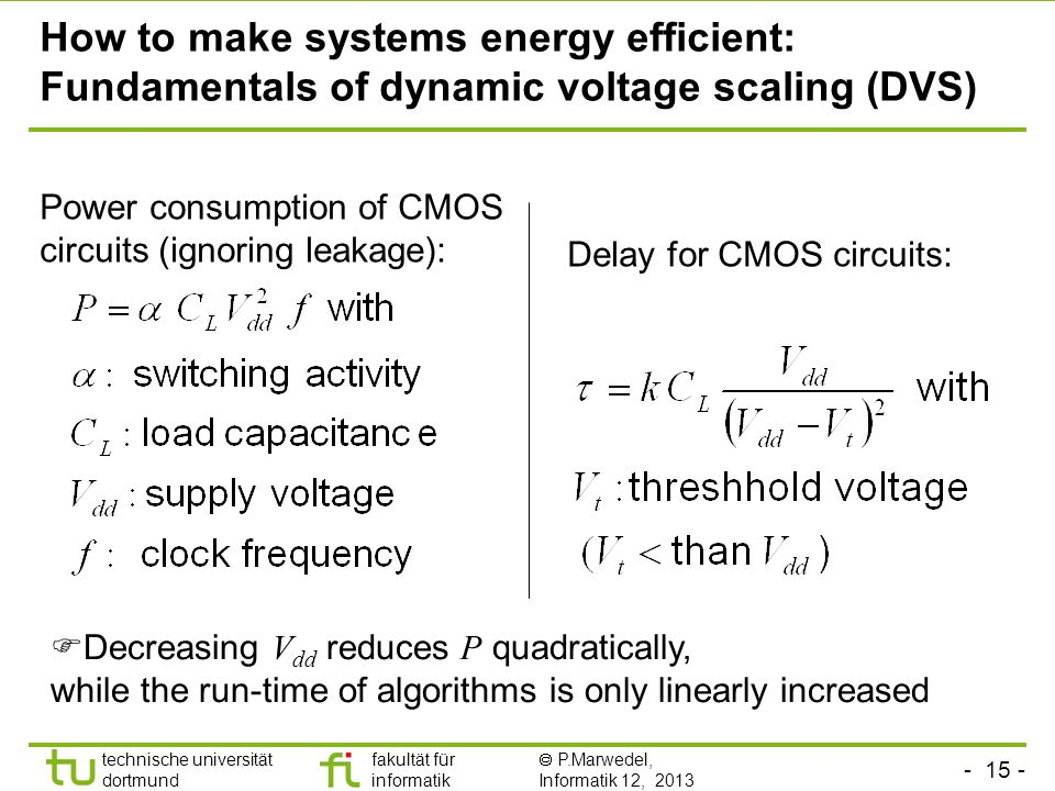How to make systems energy efficient: Fundamentals of dynamic voltage scaling (DVS)
