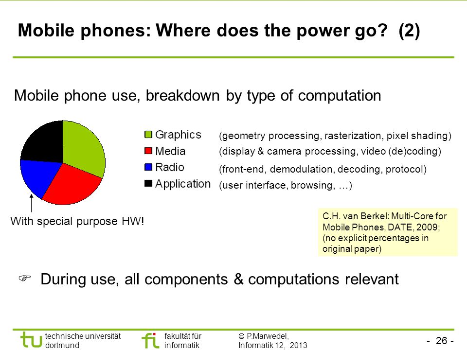 Mobile phones: Where does the power go (2)