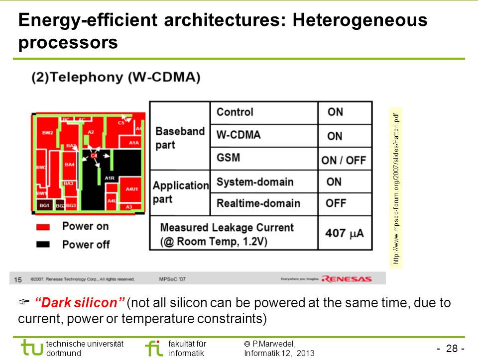 Energy-efficient architectures: Heterogeneous processors