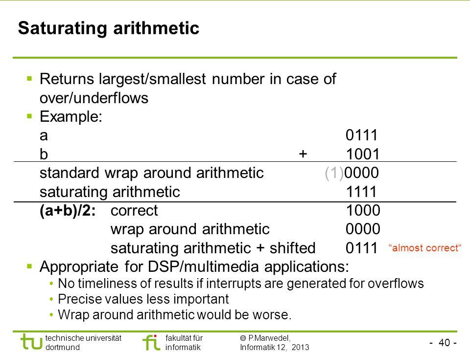 Saturating arithmetic