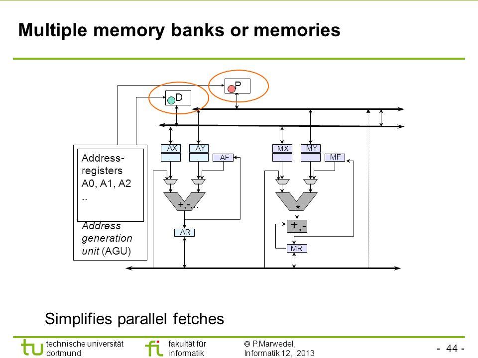 Multiple memory banks or memories