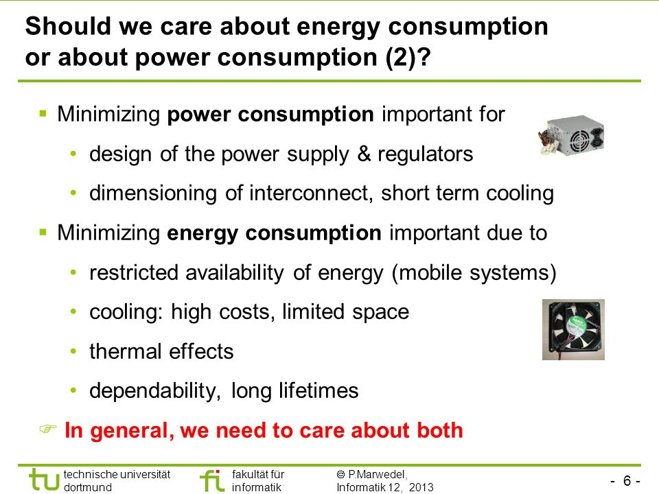 Should we care about energy consumption or about power consumption (2)