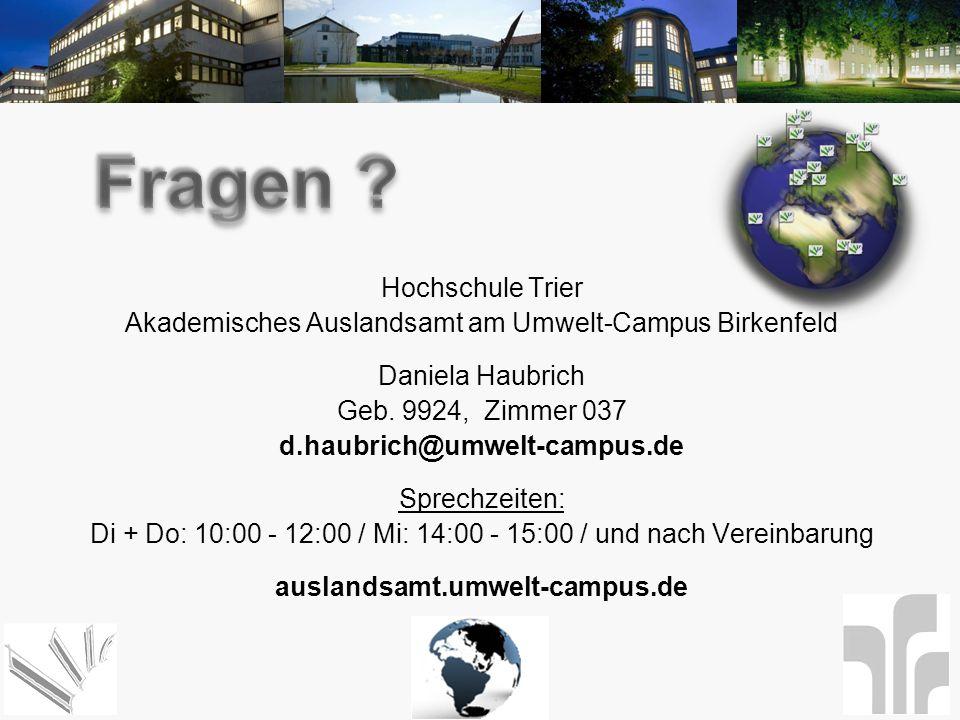 Fragen Hochschule Trier