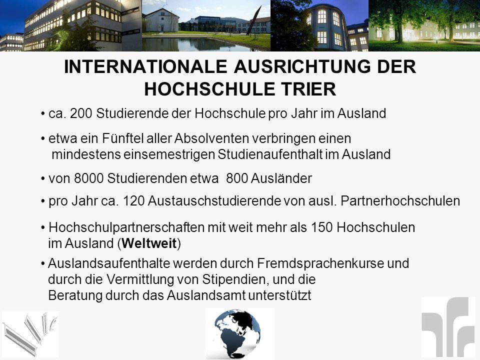 Internationale Ausrichtung der Hochschule Trier