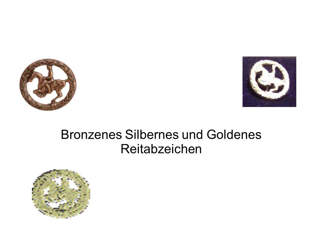 Bronzenes Silbernes und Goldenes Reitabzeichen
