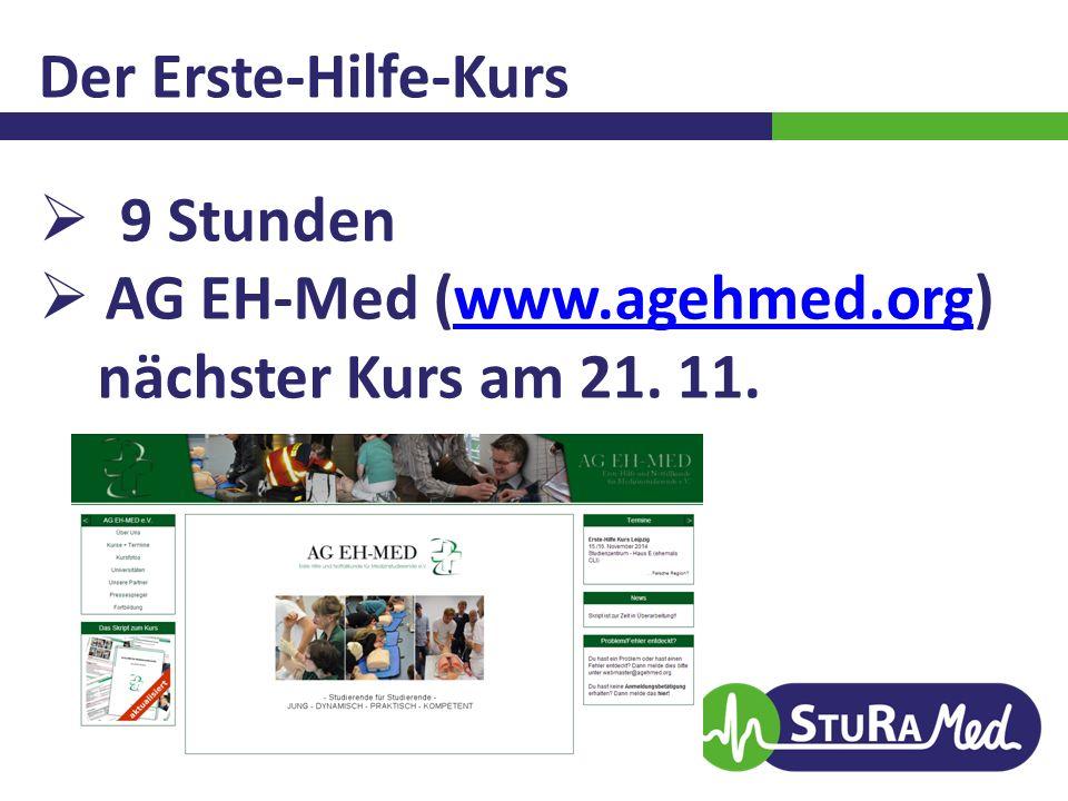 AG EH-Med (www.agehmed.org) nächster Kurs am 21. 11.