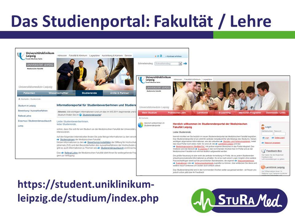 Das Studienportal: Fakultät / Lehre