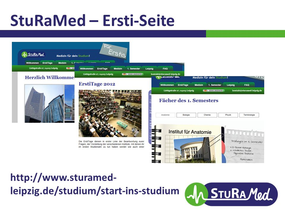 StuRaMed – Ersti-Seite