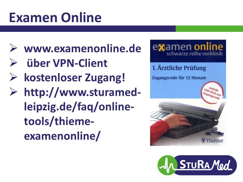 Examen Online www.examenonline.de über VPN-Client kostenloser Zugang!