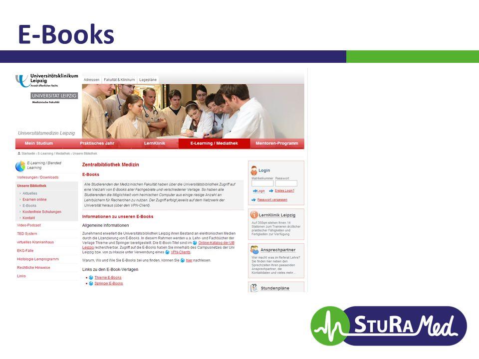 E-Books Nur mit VPN-Client!  VL Rechenzentrum am Montag