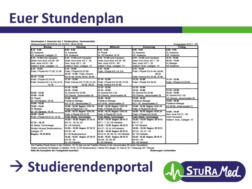 Euer Stundenplan  Studierendenportal
