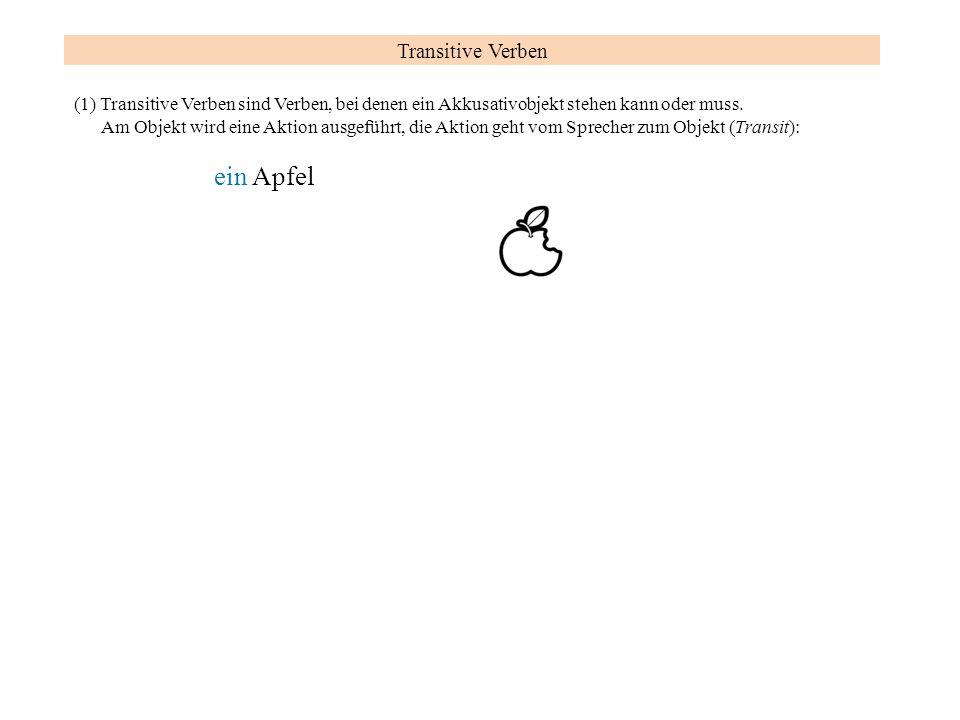 ein Apfel Transitive Verben