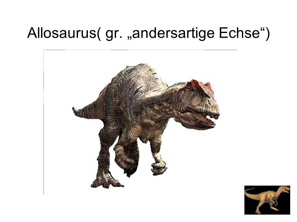 "Allosaurus( gr. ""andersartige Echse )"