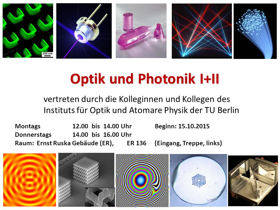 Optik und Photonik I+II