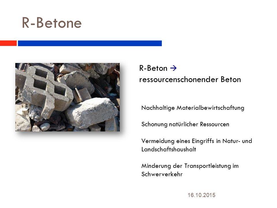 R-Betone R-Beton  ressourcenschonender Beton