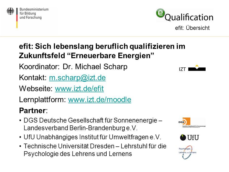 Koordinator: Dr. Michael Scharp Kontakt: m.scharp@izt.de