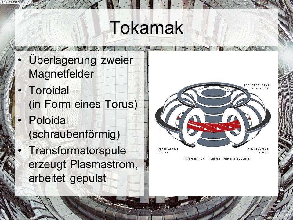 Tokamak Überlagerung zweier Magnetfelder