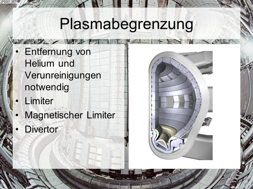 Plasmabegrenzung Entfernung von Helium und Verunreinigungen notwendig