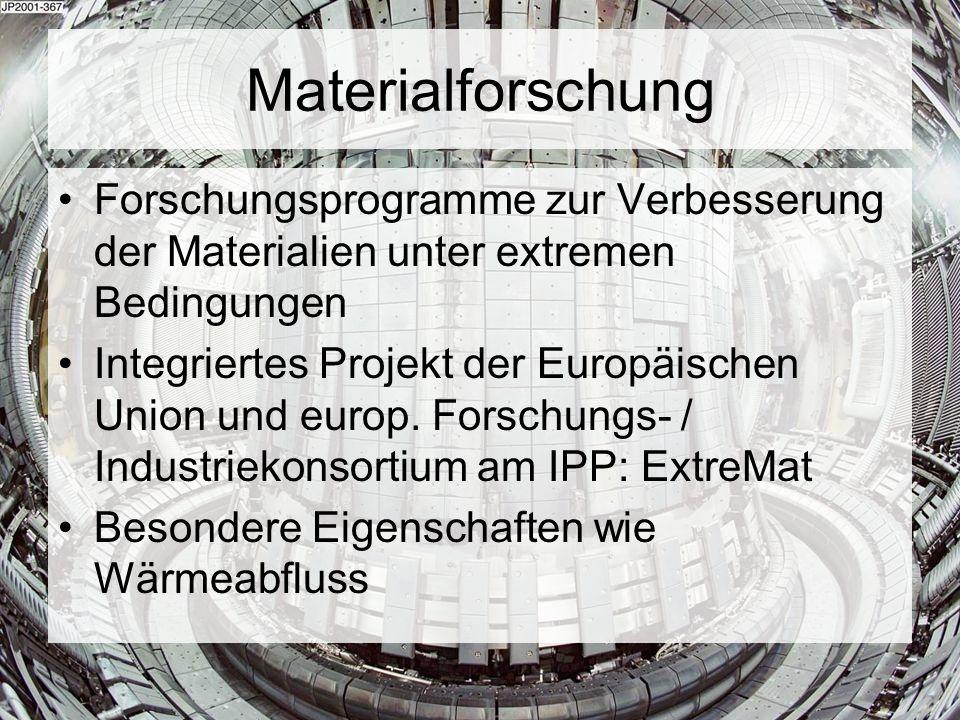 Materialforschung Forschungsprogramme zur Verbesserung der Materialien unter extremen Bedingungen.