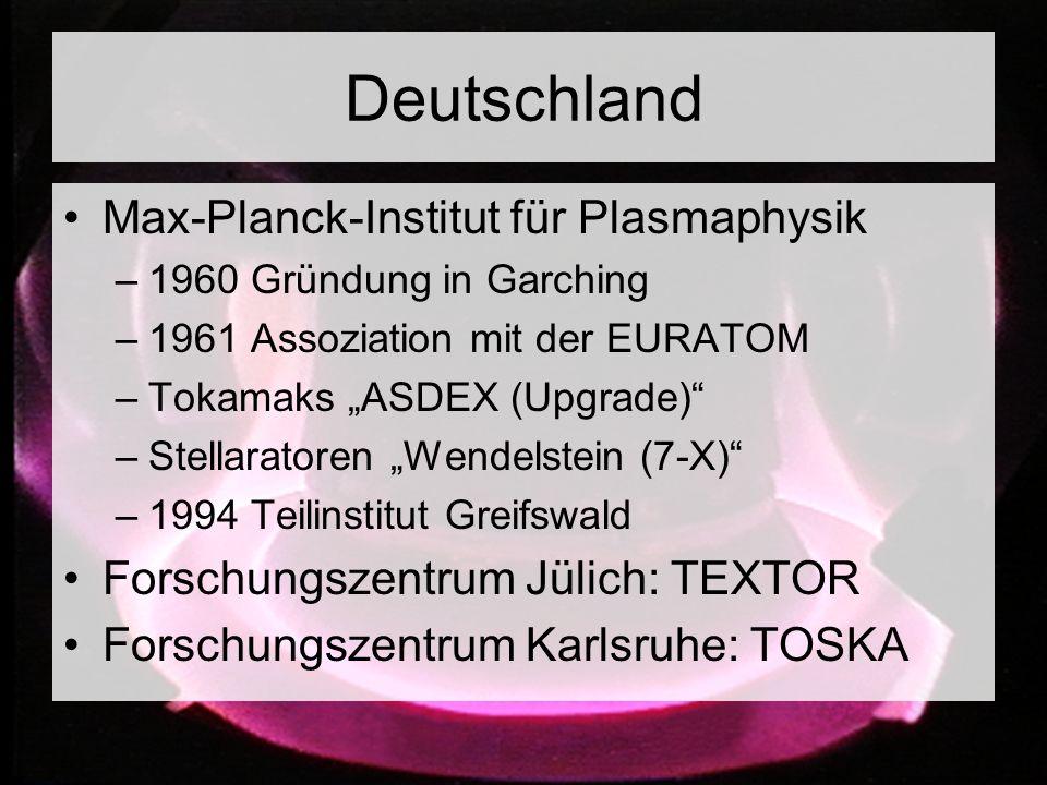 Deutschland Max-Planck-Institut für Plasmaphysik