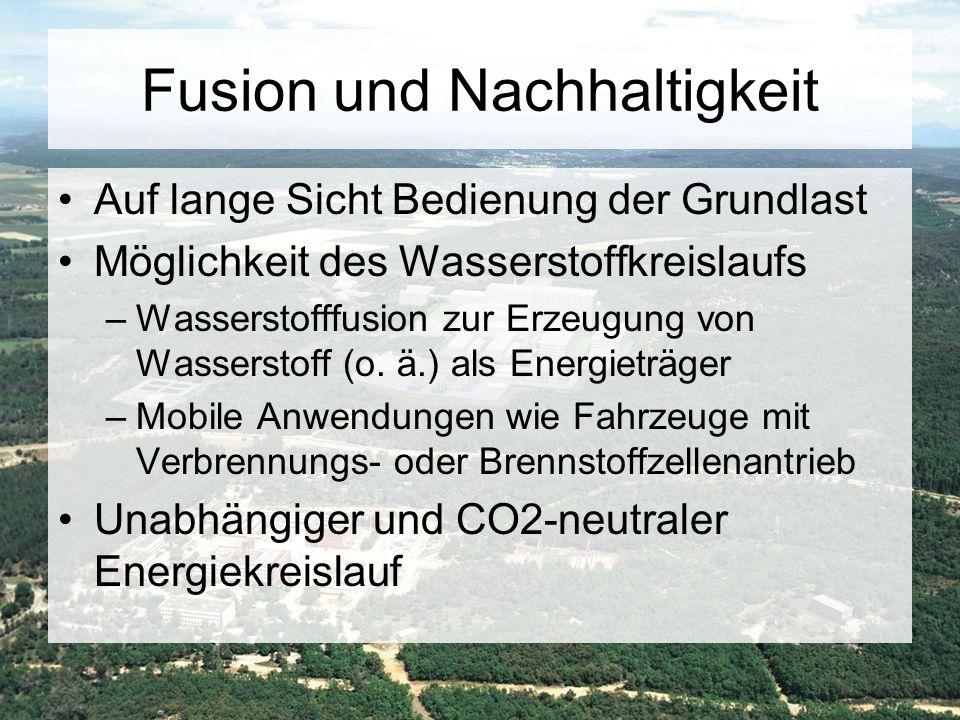 Fusion und Nachhaltigkeit