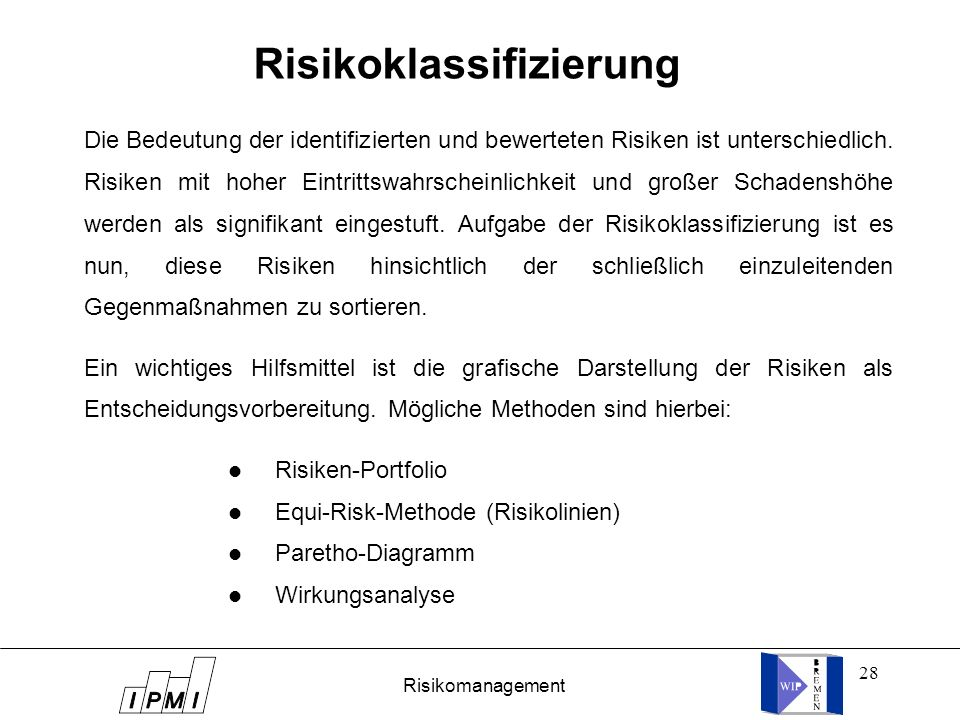Risikoklassifizierung