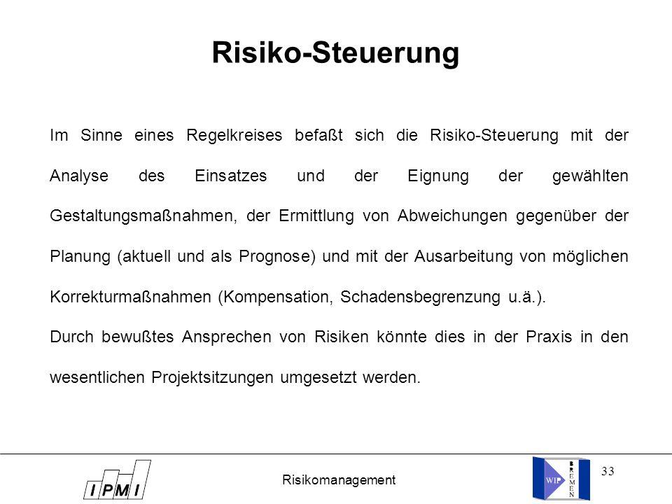 Risiko-Steuerung