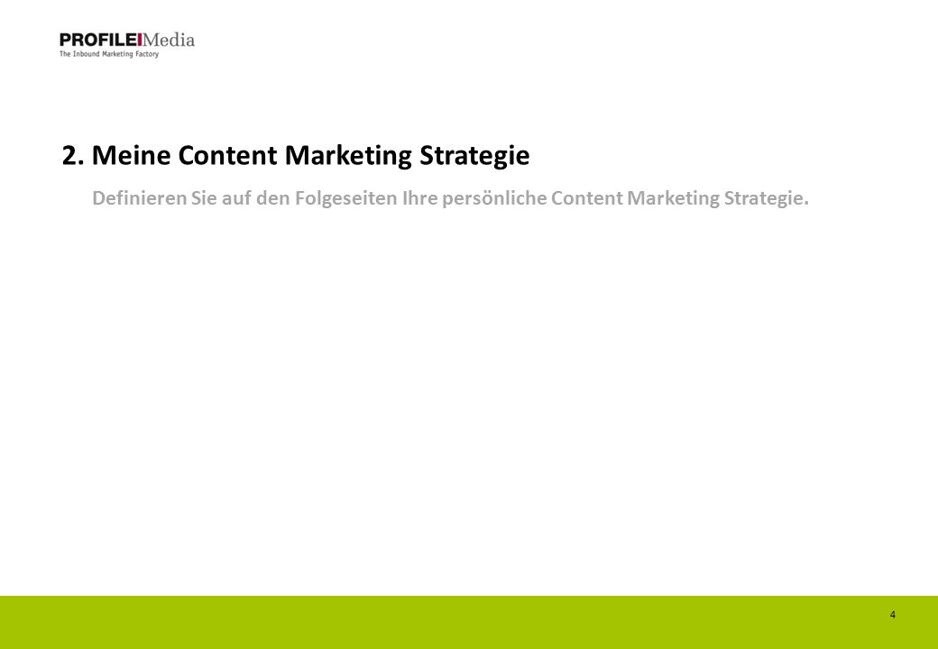 2. Meine Content Marketing Strategie