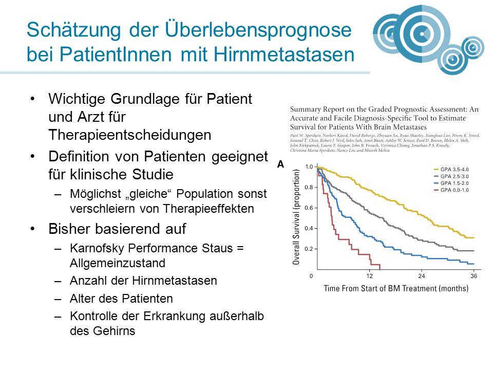 Schätzung der Überlebensprognose bei PatientInnen mit Hirnmetastasen