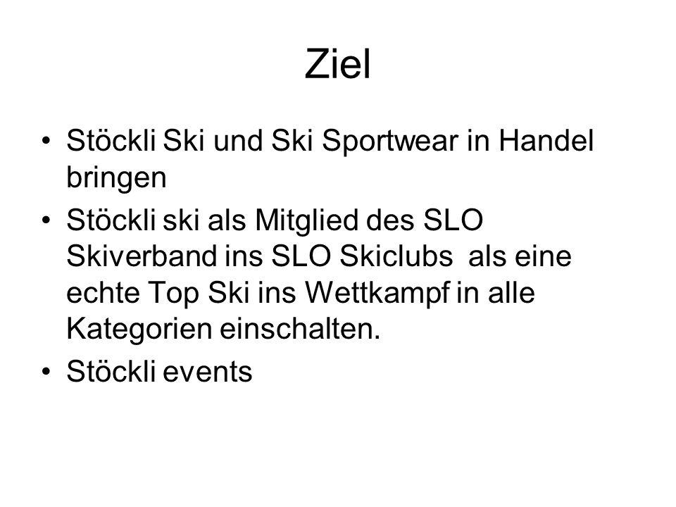 Ziel Stöckli Ski und Ski Sportwear in Handel bringen
